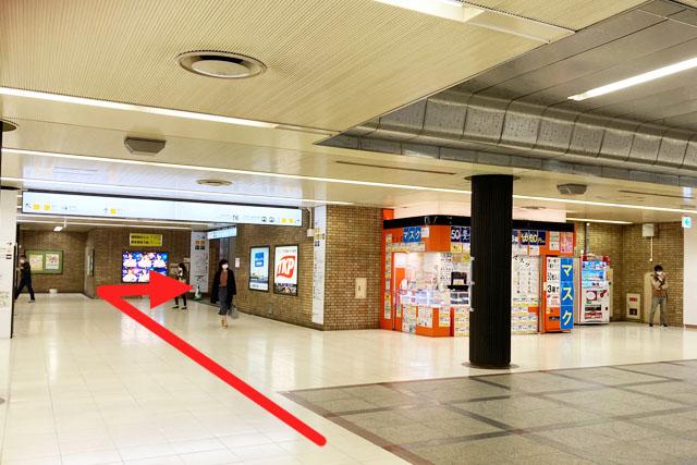 博多駅地下街へ
