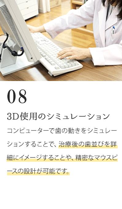 3D仕様のシュミレーション